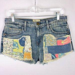 Current Elliott Gam Dirty Loved Hippie Jean Shorts